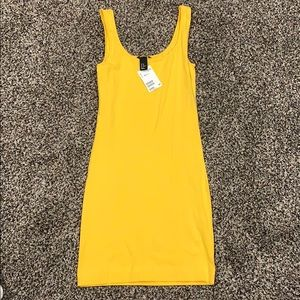 Yellow body con dress from H&M Brand New!